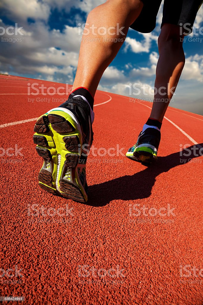 Runner stock photo