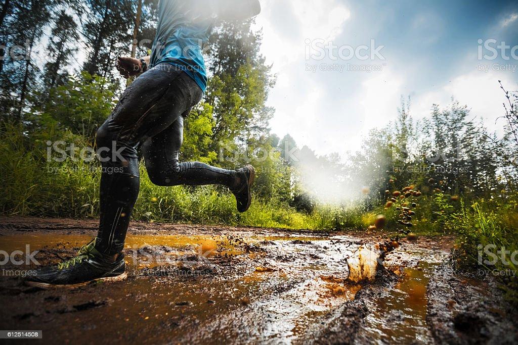 Runner stock photo