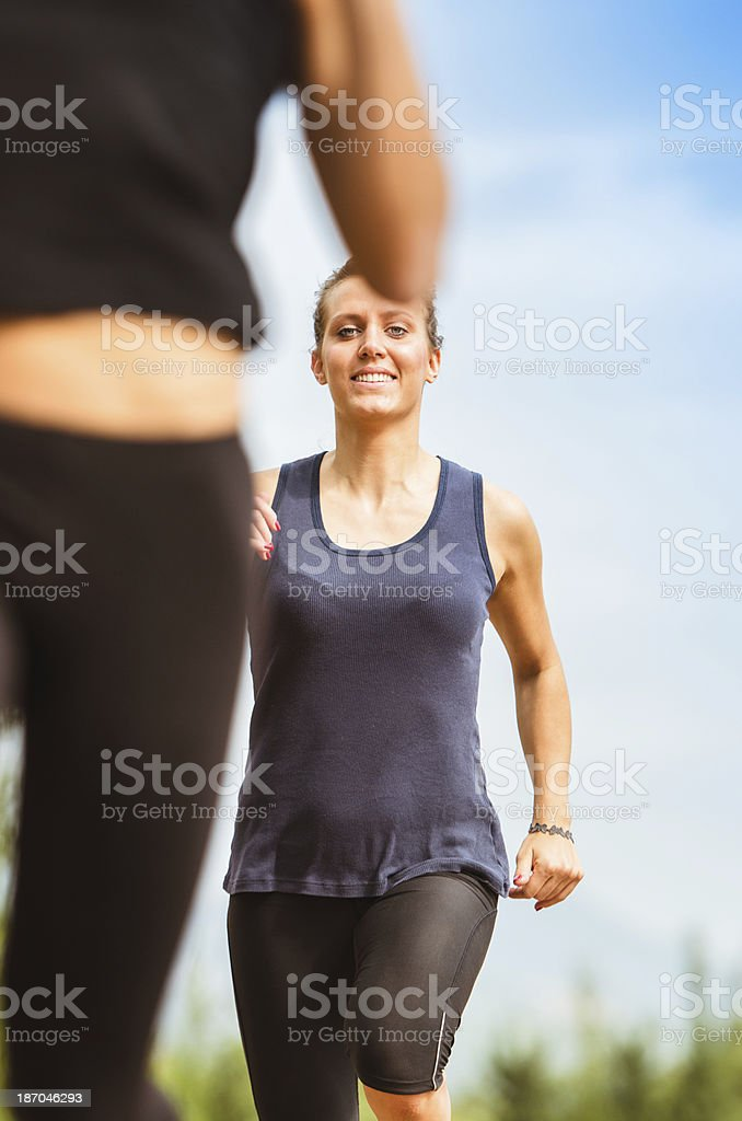 runner running on the track royalty-free stock photo