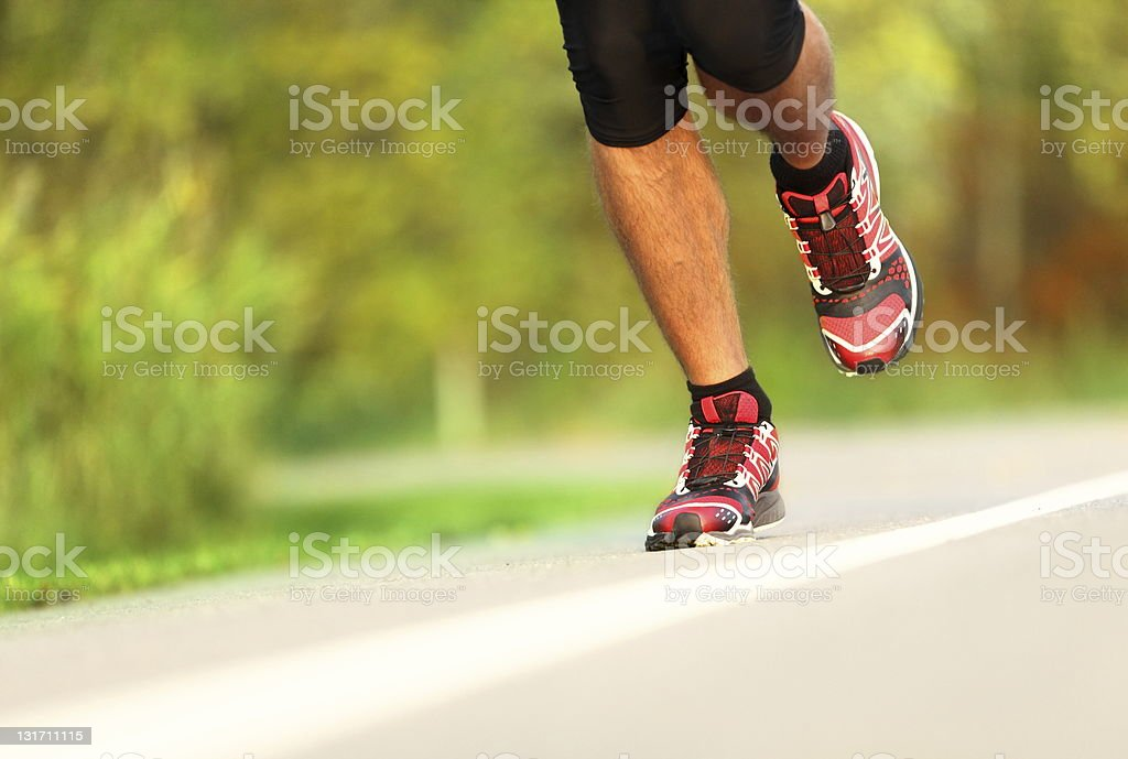 Runner - running shoes closeup royalty-free stock photo