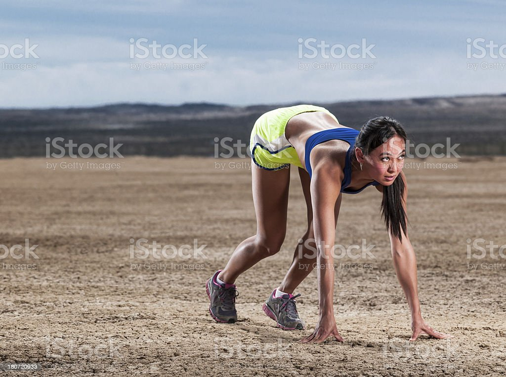 Runner' Start royalty-free stock photo