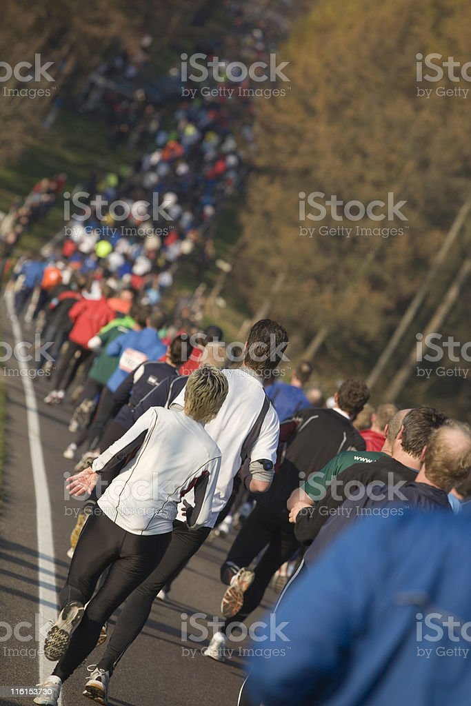 runners at a road runnung event royalty-free stock photo