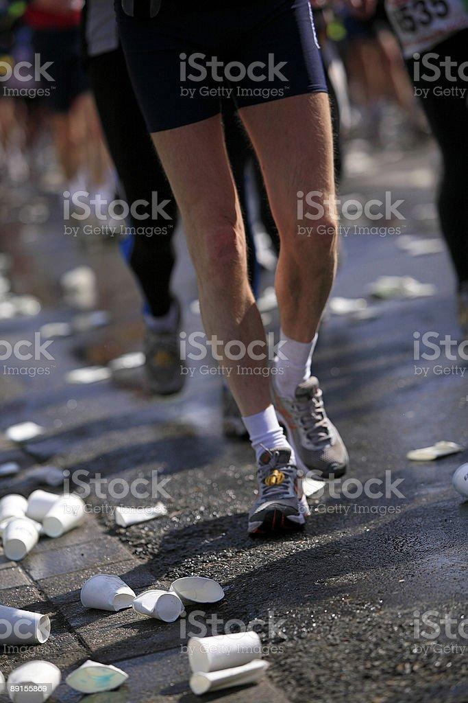 runners at Fortis Rotterdam Marathon 2006 royalty-free stock photo