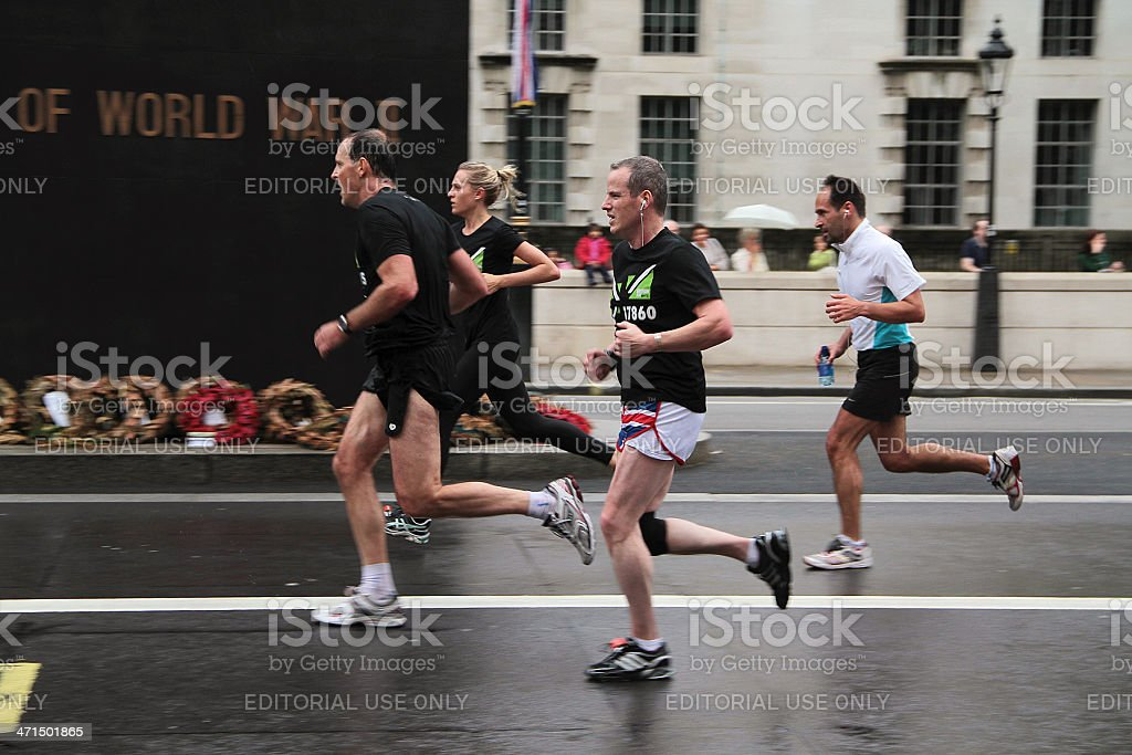 Runners at the 2012 London 10k Marathon royalty-free stock photo