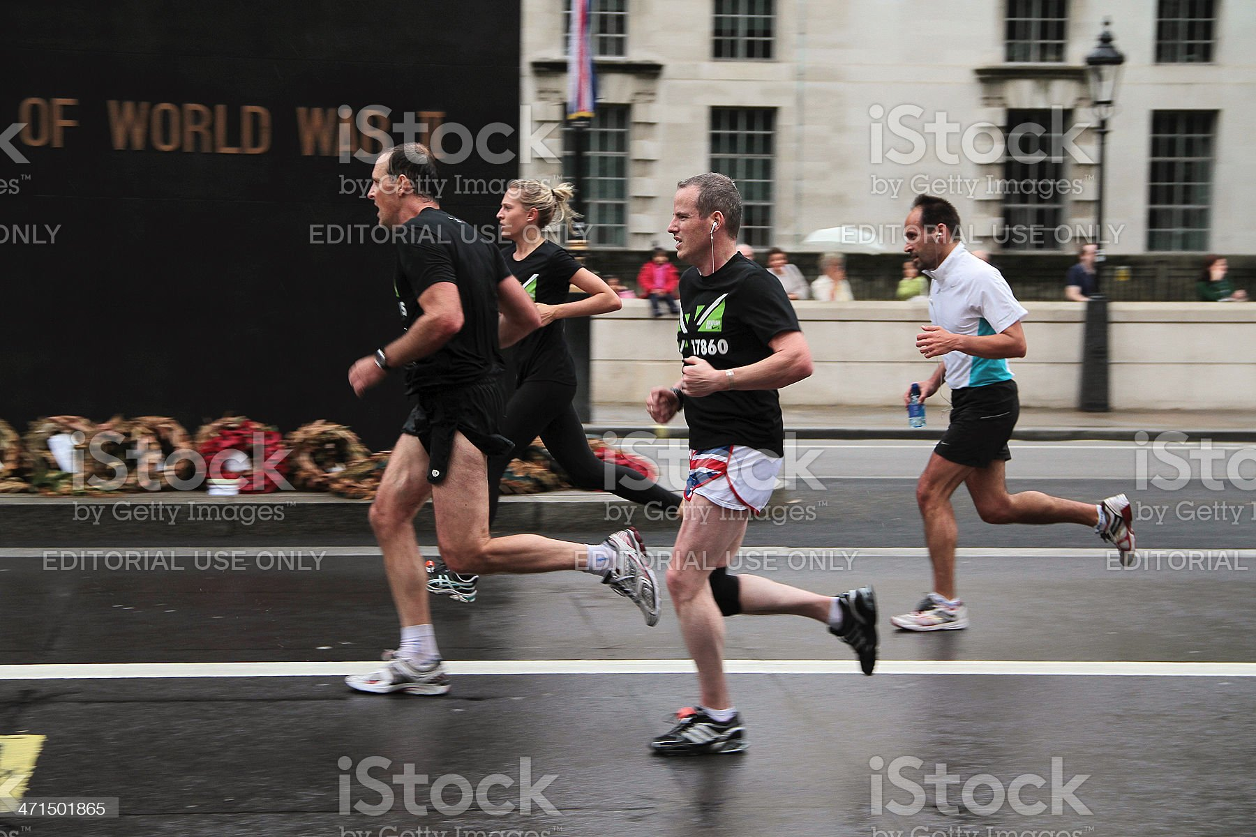 Runners at the 2012 London 10k Marathon royalty-free stock photo