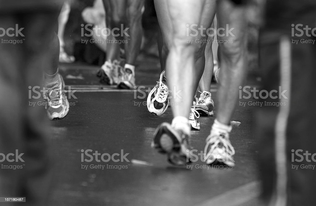Runners Feet and Legs stock photo