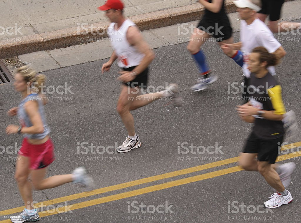 Runners From Above royalty-free stock photo