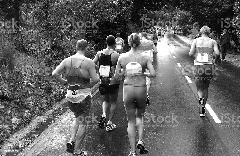 Runners from Behind stock photo