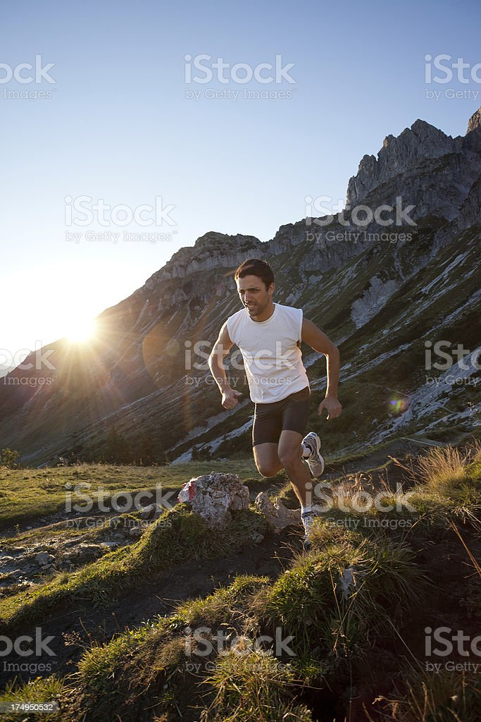 Runner's high royalty-free stock photo
