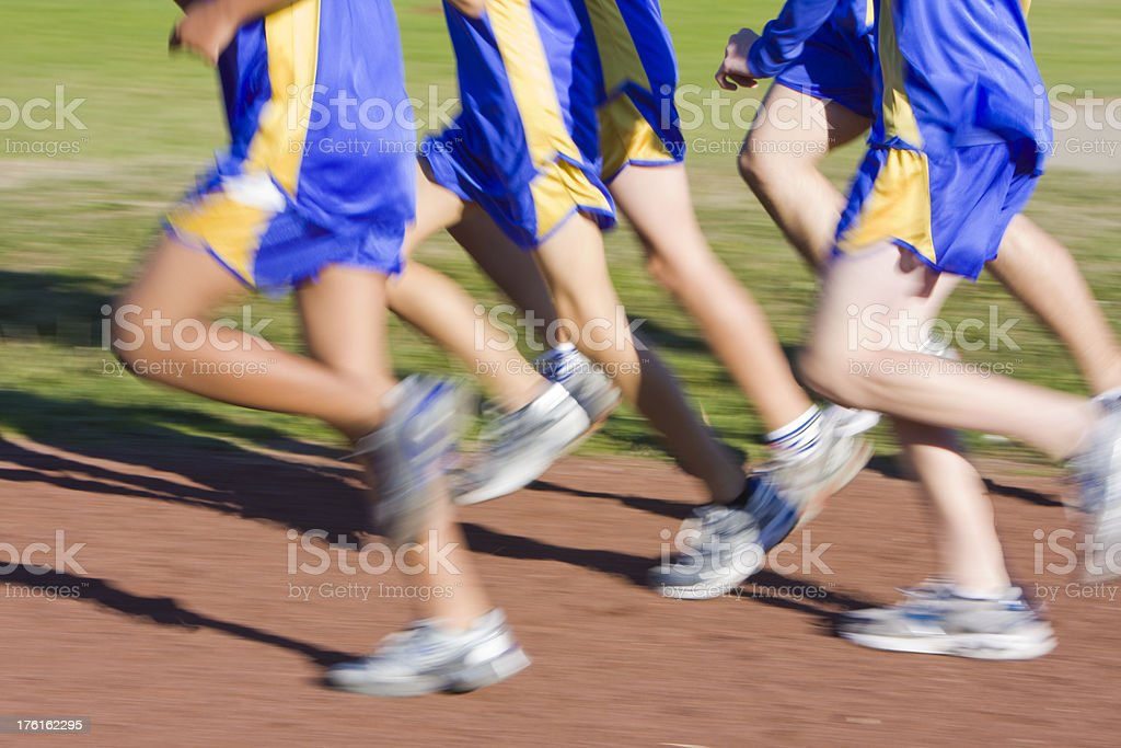 Runners in Action stock photo