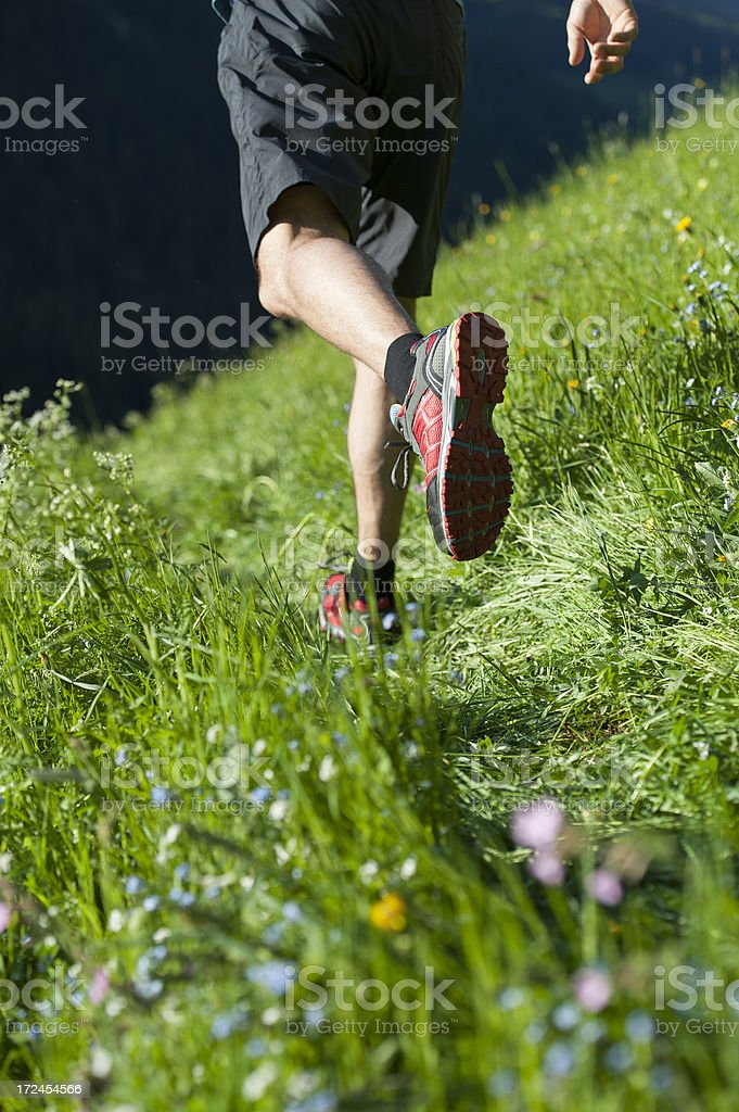 Runners in detail. royalty-free stock photo