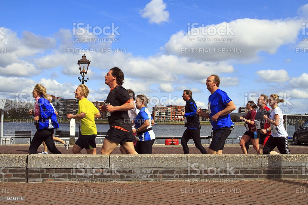 Runners in the sunshine royalty-free stock photo