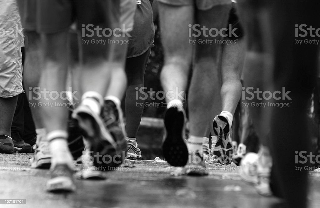 Runners Legs and Feet close-up stock photo