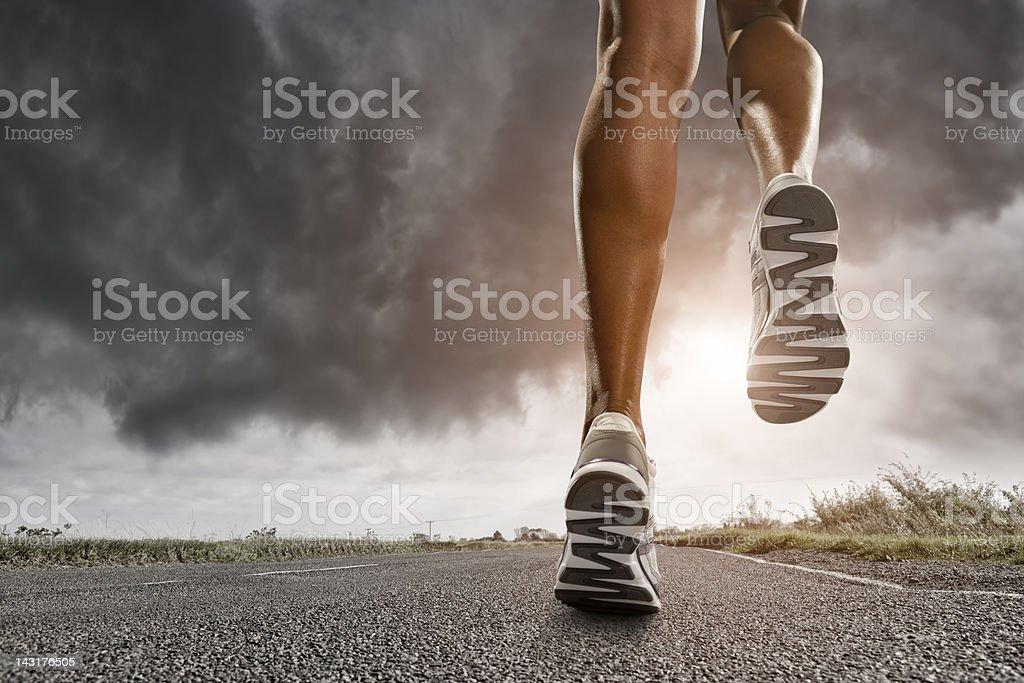 Runners Legs stock photo