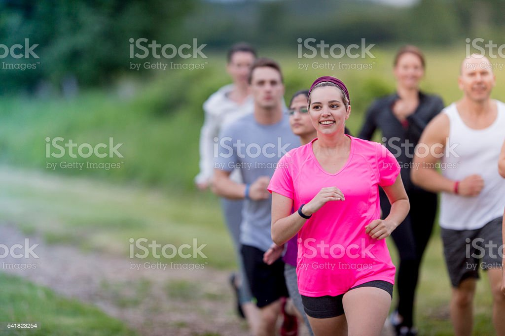 Runners of all Fitness Levels stock photo