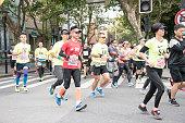 Runners of Shanghai Marathon 2016