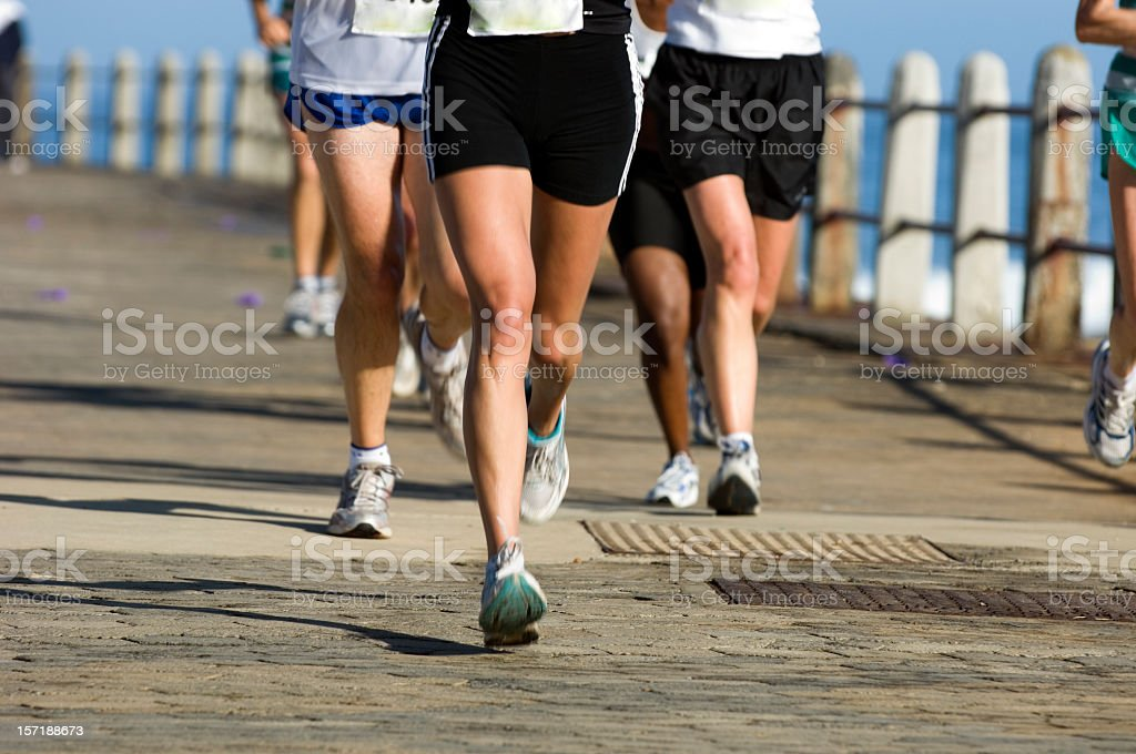 Runners on the Road stock photo