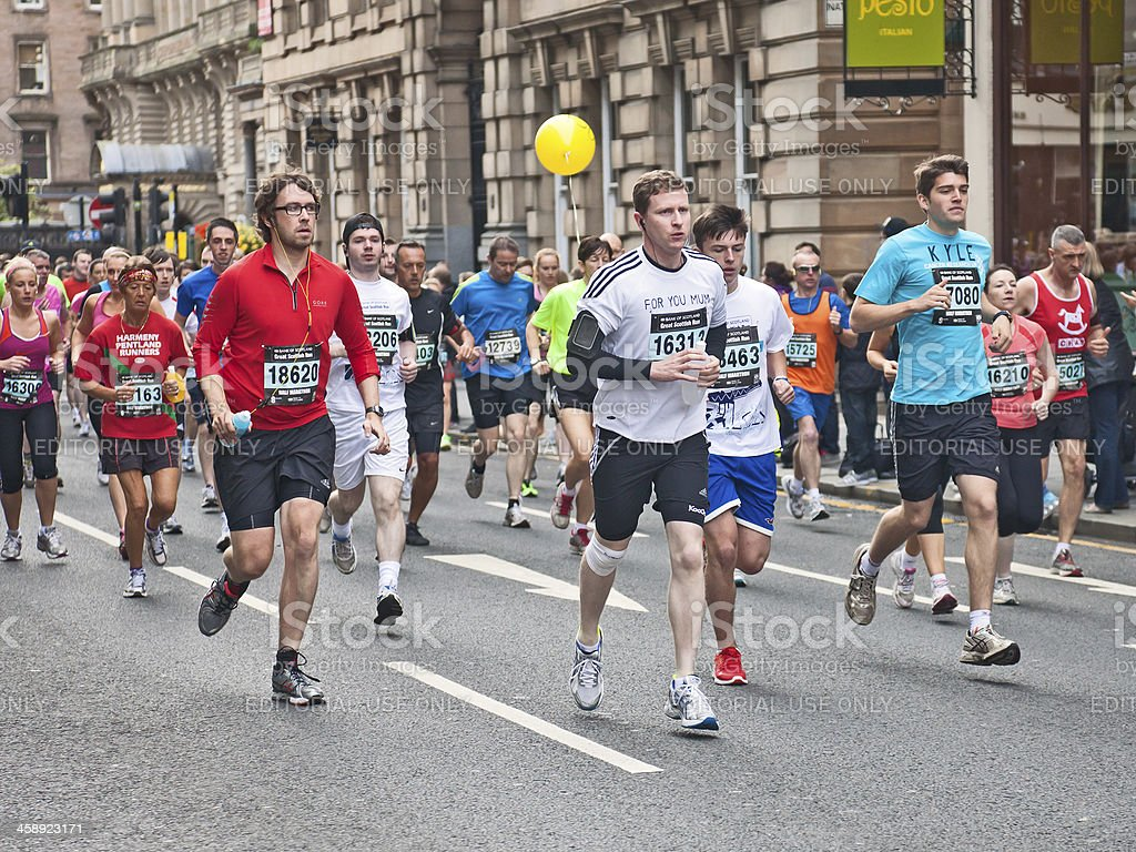 Runners participating in Great Scottish Run 2012 royalty-free stock photo