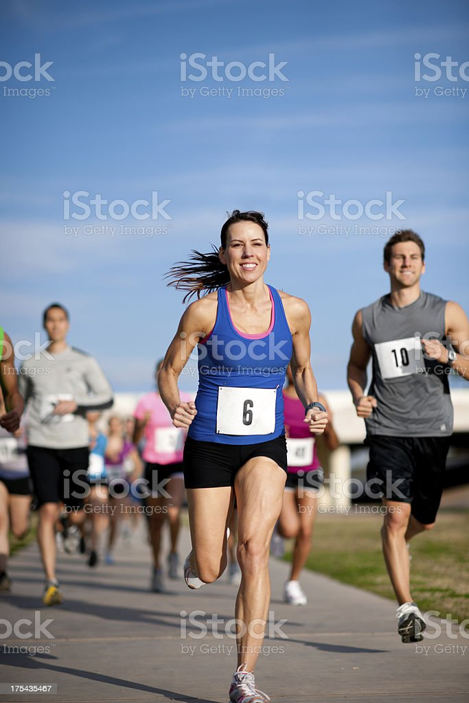 Runners stock photo