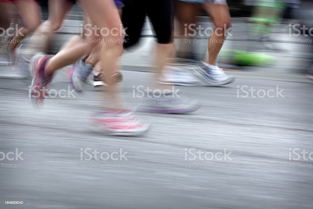 Runners royalty-free stock photo