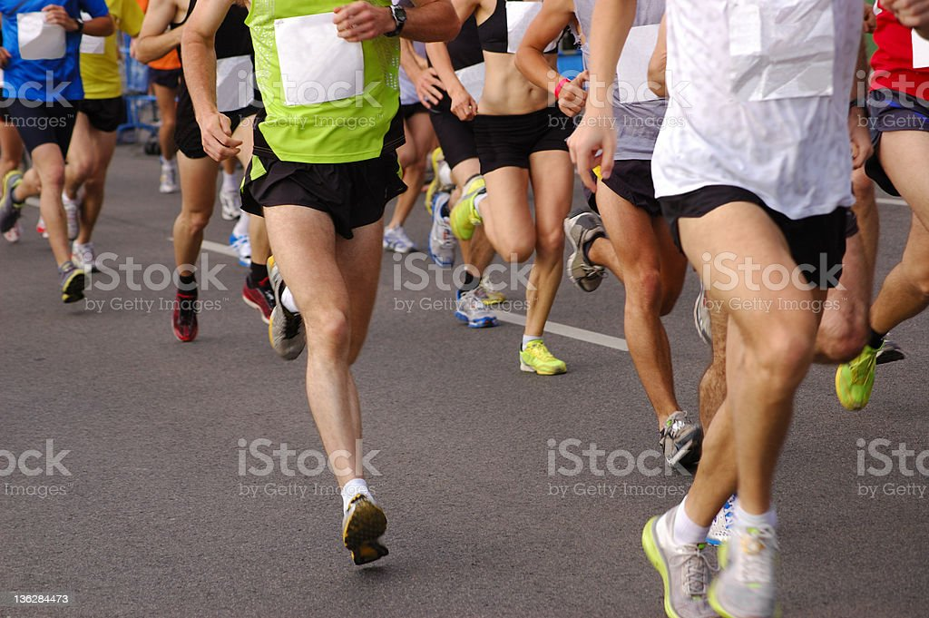Runners Racing at a Marathon. royalty-free stock photo