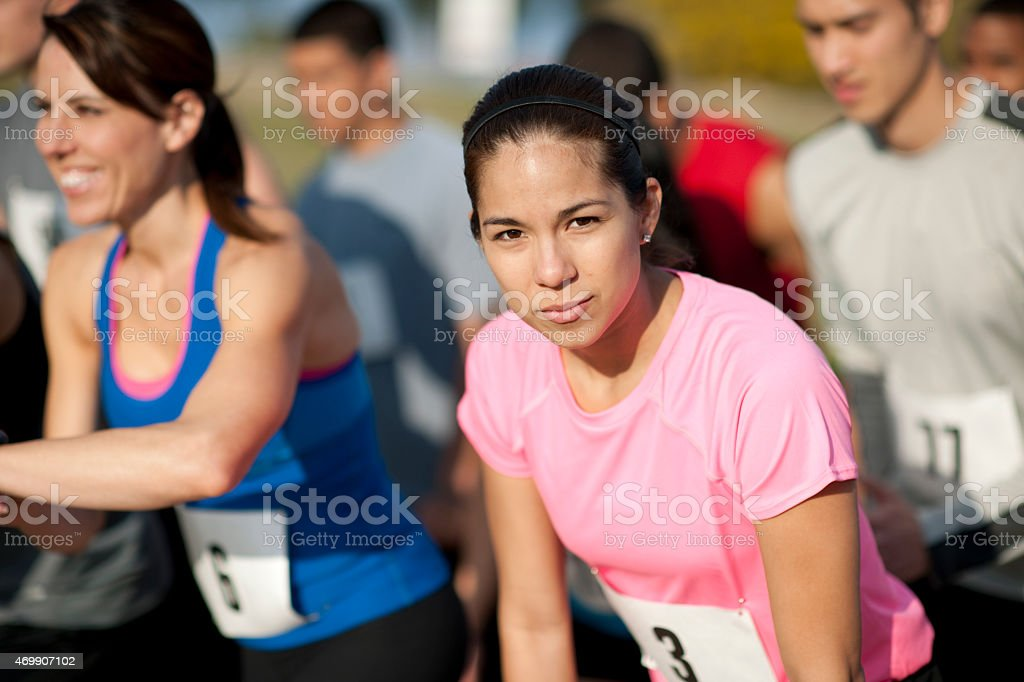 Runners Racing stock photo
