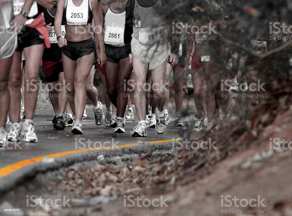 Runners reaching the top royalty-free stock photo