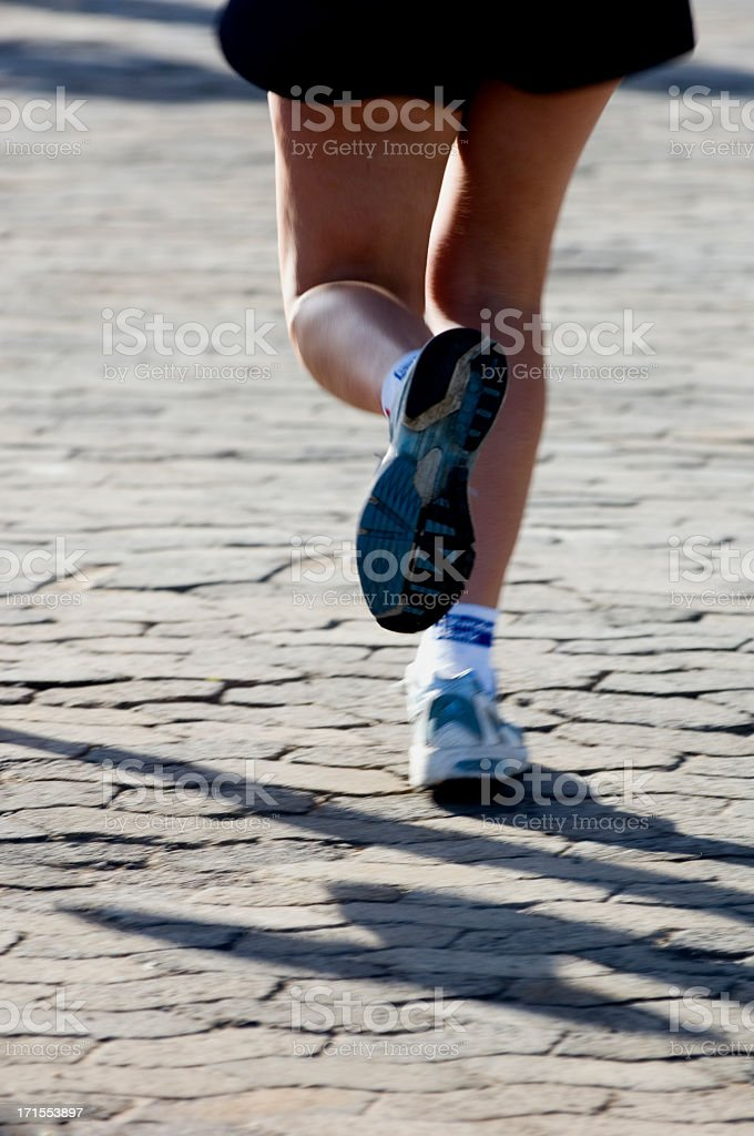 Runners Shadow royalty-free stock photo