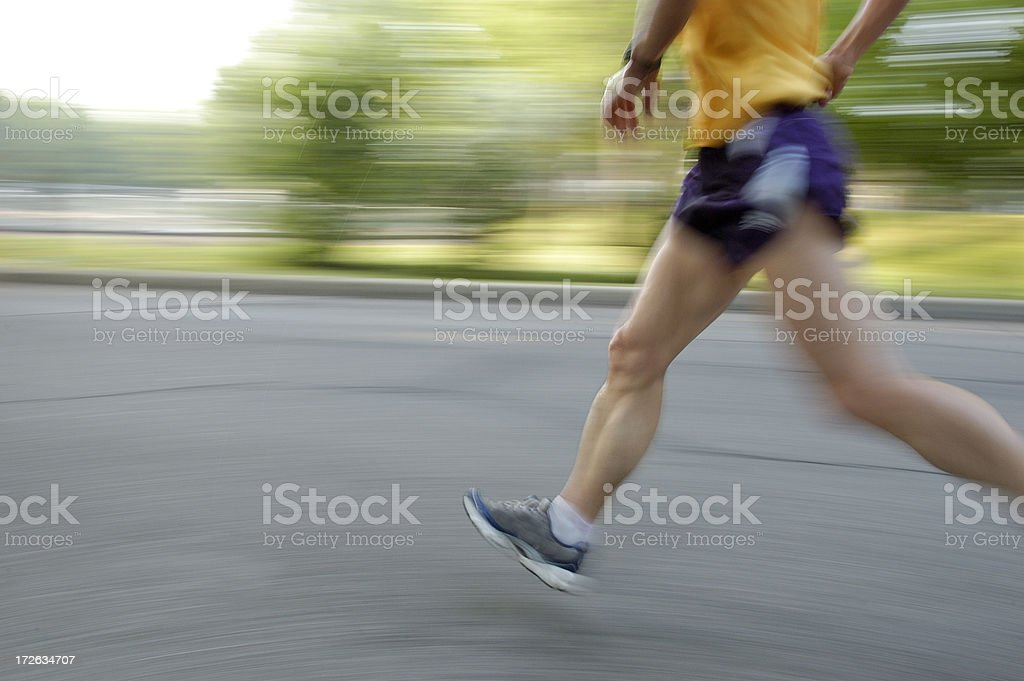 runners stride royalty-free stock photo