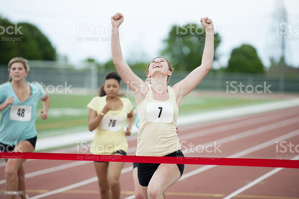 Runners training royalty-free stock photo