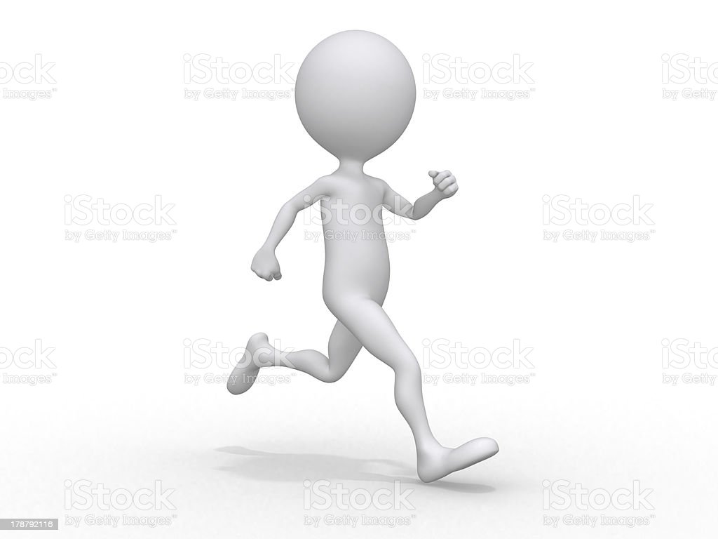 Running 3d character royalty-free stock photo