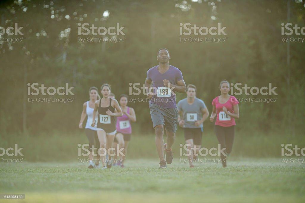 Running a 10K stock photo