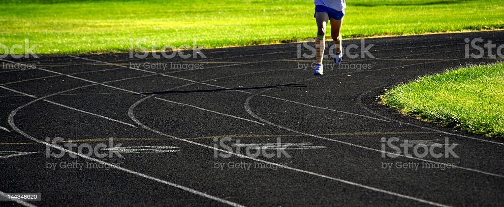 Running a Race royalty-free stock photo