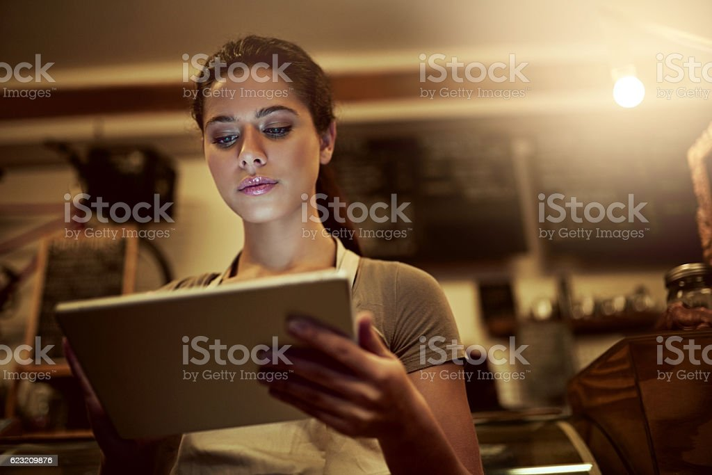 Running a store in the age of the app stock photo