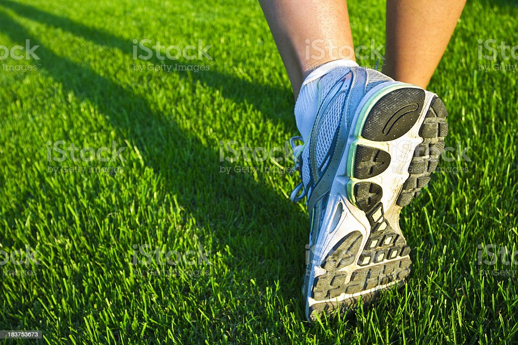 running a trail royalty-free stock photo