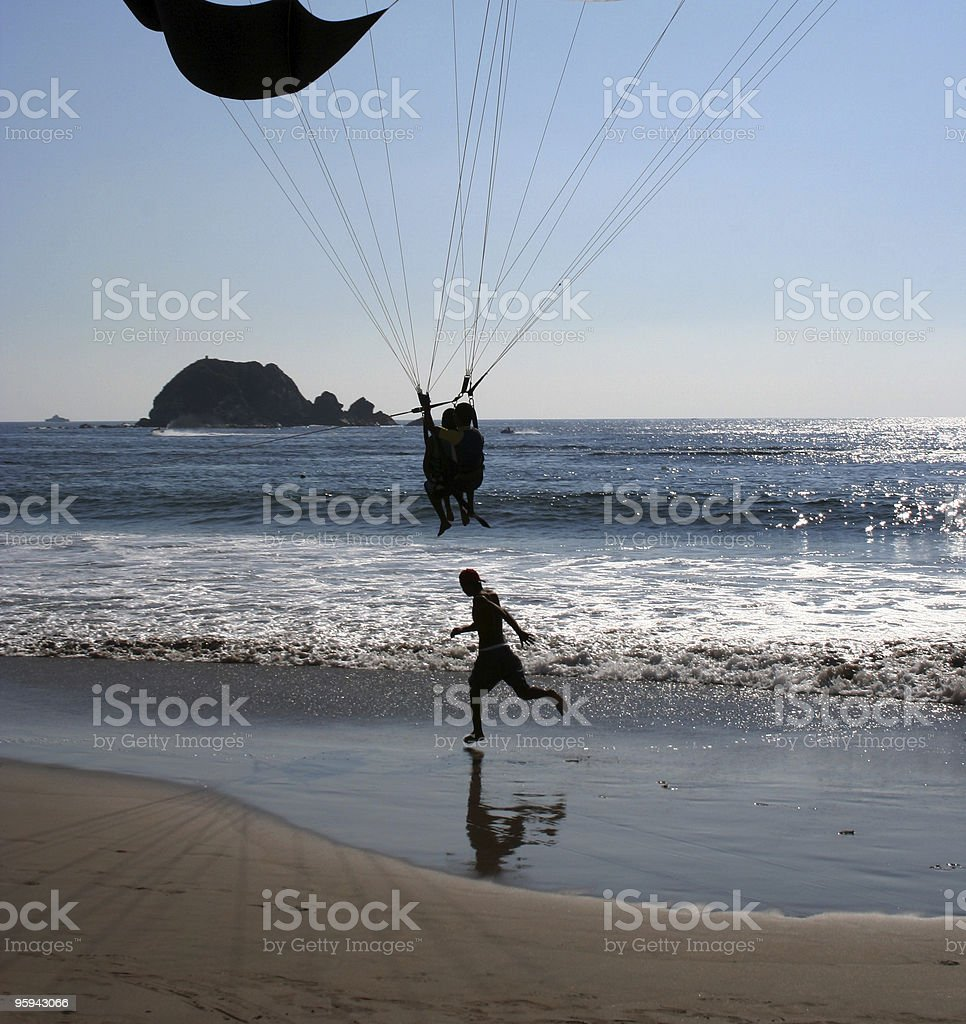 Running and flying royalty-free stock photo