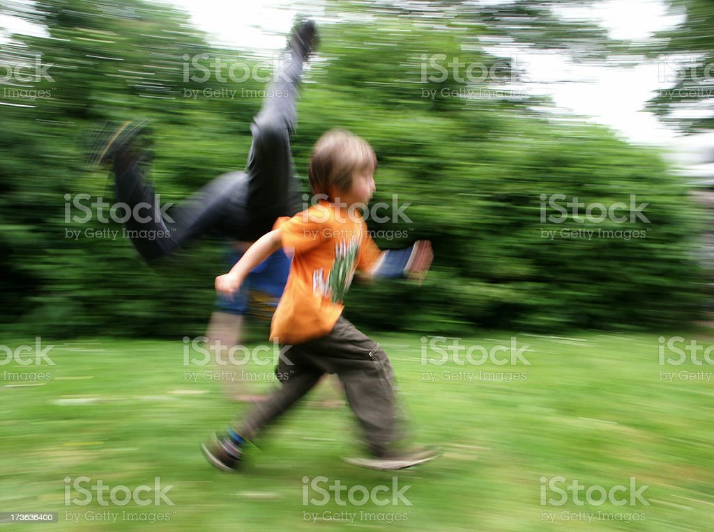 Running and Jumping royalty-free stock photo