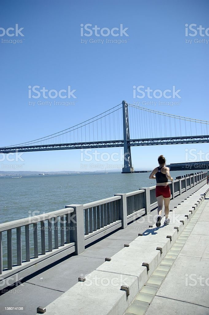 Running at the Embarcadero III stock photo