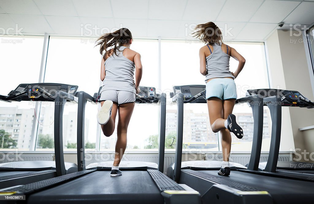 Running at the fitness club royalty-free stock photo