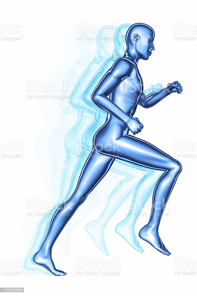 Running athlete royalty-free stock photo