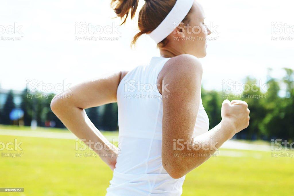 Running athlete woman running. royalty-free stock photo