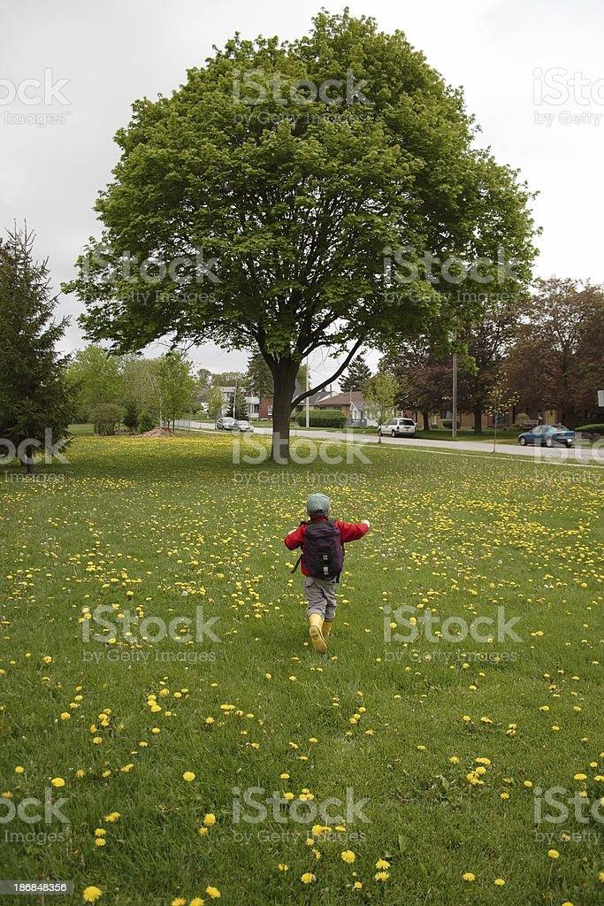 Running Away royalty-free stock photo