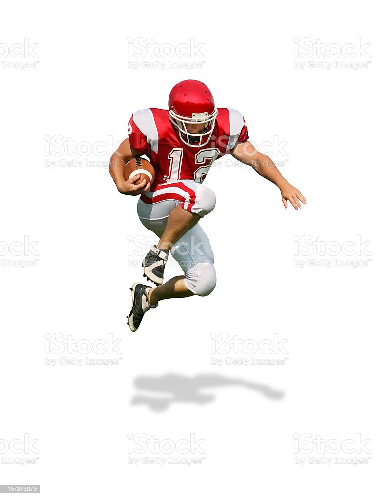 Running Back with Clipping Path stock photo
