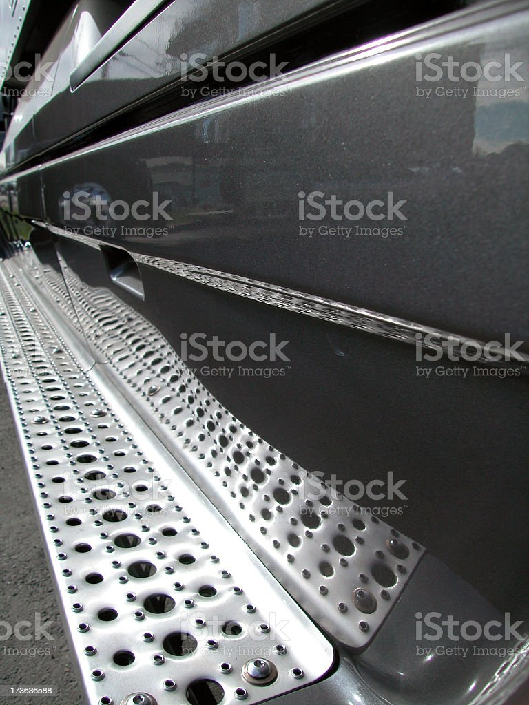 Running Board Grating royalty-free stock photo