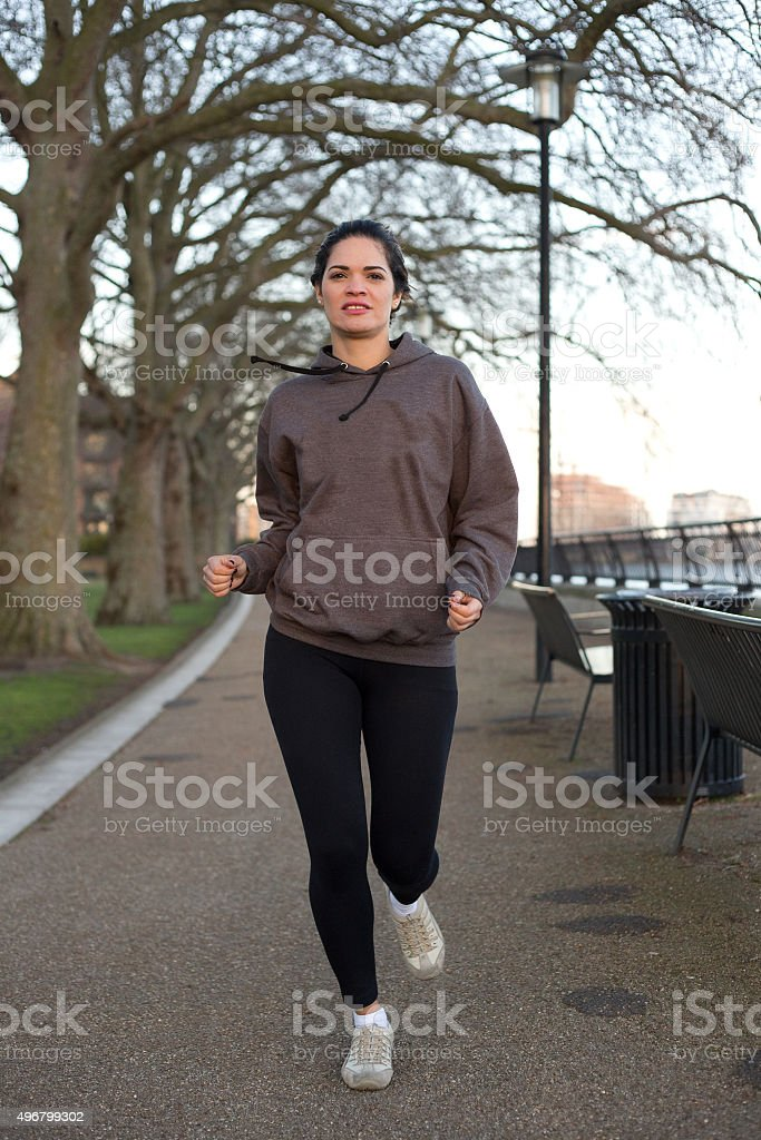 running by the river royalty-free stock photo