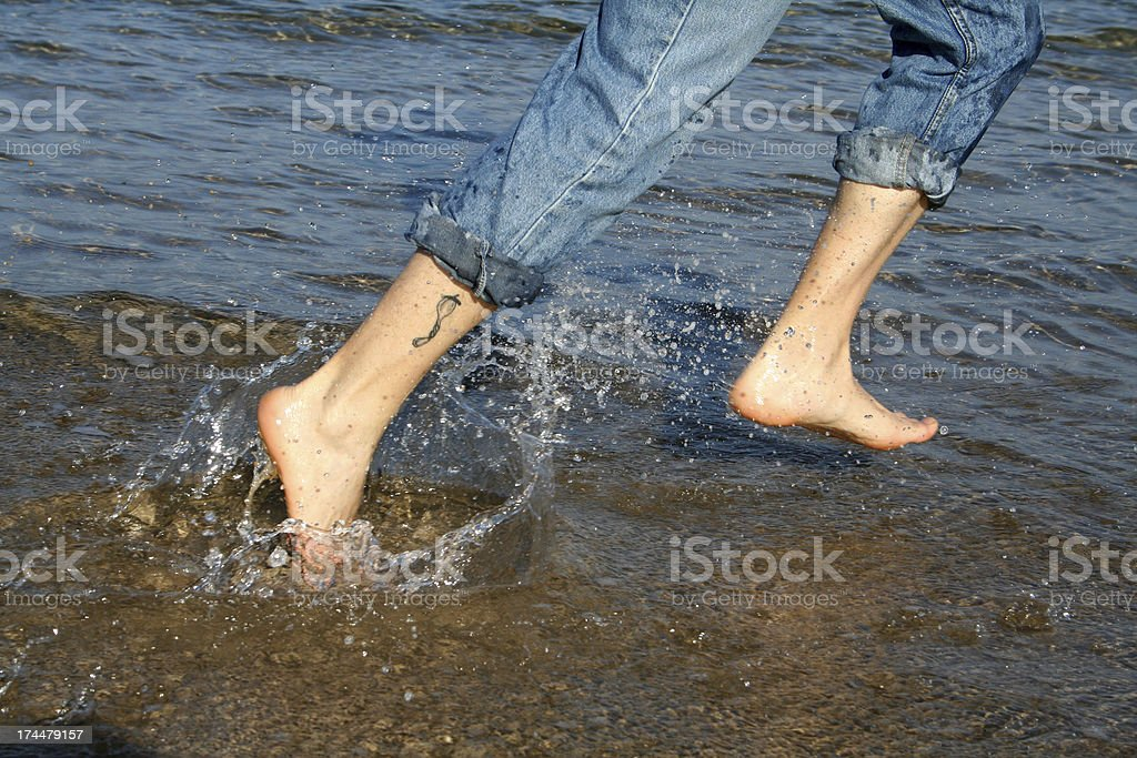 Corriendo junto al mar royalty-free stock photo