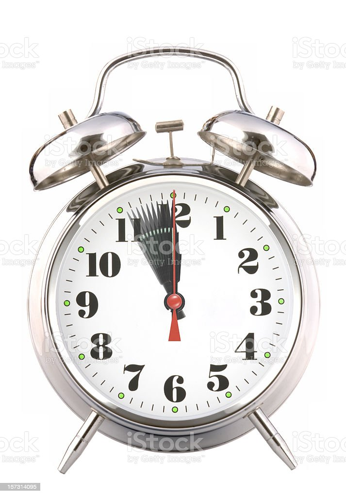 Running Clock royalty-free stock photo