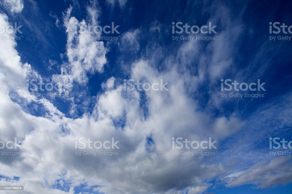 Running clouds royalty-free stock photo