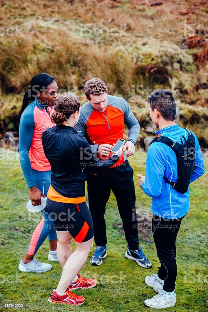 Running Club stock photo