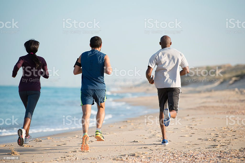 Running competition. stock photo